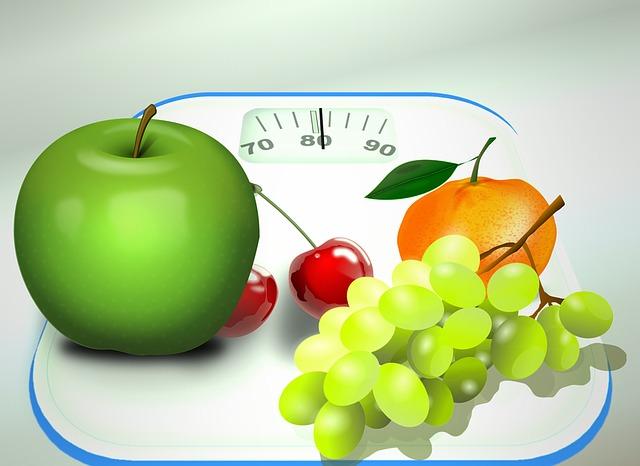 váha,ovoce