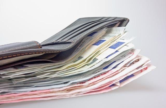 nacpaná peněženka