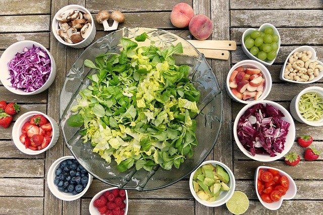 Zelenina, ovoce, ořechy, houby